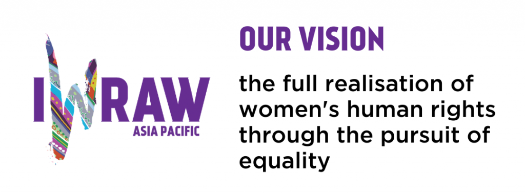 Our vision: the full realisation of women's human rights through the pursuit of equality